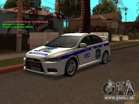 Mitsubishi Lancer X Police pour GTA San Andreas