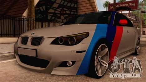 BMW M5 E60 für GTA San Andreas Rückansicht
