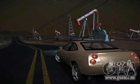 Fiat Coupe pour GTA San Andreas sur la vue arrière gauche