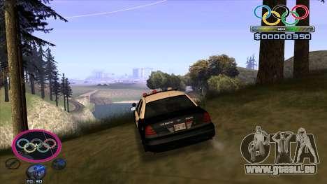 HUD Olympiade pour GTA San Andreas troisième écran