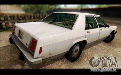 Ford LTD Crown Victoria 1987 pour GTA San Andreas vue intérieure