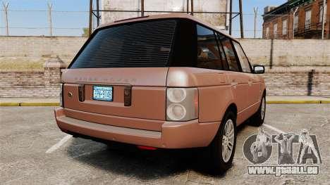 Range Rover TDV8 Vogue pour GTA 4 Vue arrière de la gauche