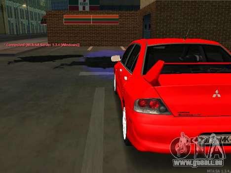 Mitsubishi Lancer Evo VIII pour GTA San Andreas sur la vue arrière gauche