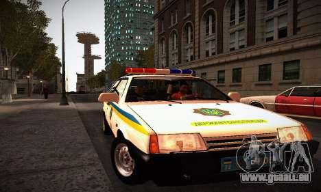 VAZ 2108 Ukraine REC pour GTA San Andreas vue de droite