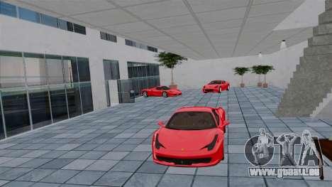 Salon de l'Auto Ferrari pour GTA 4 cinquième écran