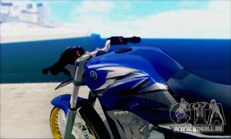 Yamaha 225R Scorpio Z pour GTA San Andreas sur la vue arrière gauche