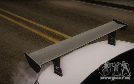 BMW M5 2012 pour GTA San Andreas vue arrière