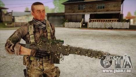 Sniper M-14 With Camouflage Grid pour GTA San Andreas quatrième écran