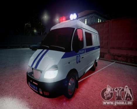 Gazelle 2705 Police pour GTA 4 vue de dessus