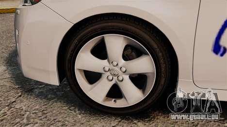 Toyota Prius 2011 Warsaw Taxi v3 pour GTA 4 Vue arrière