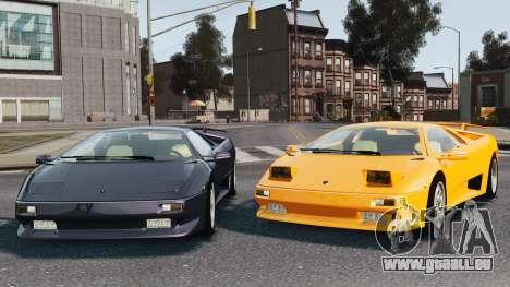 Lamborghini Diablo VT 1994 für GTA 4 Innen