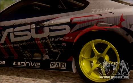 Nissan S15 Asus Team pour GTA San Andreas vue arrière