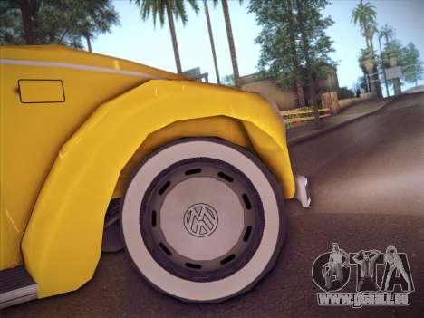Volkswagen Käfer für GTA San Andreas Innenansicht