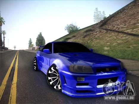 Nissan Skyline GTR für GTA San Andreas Rückansicht