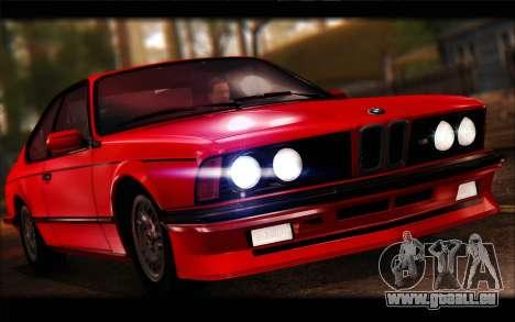 BMW E24 M635 1984 pour GTA San Andreas