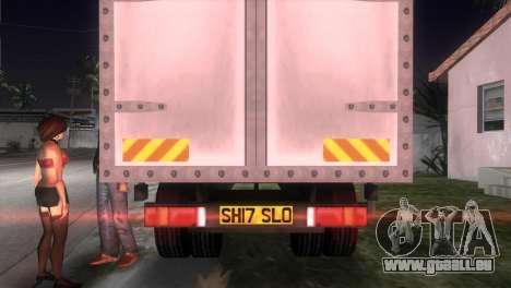 Mercedes Benz Atego pour GTA Vice City sur la vue arrière gauche