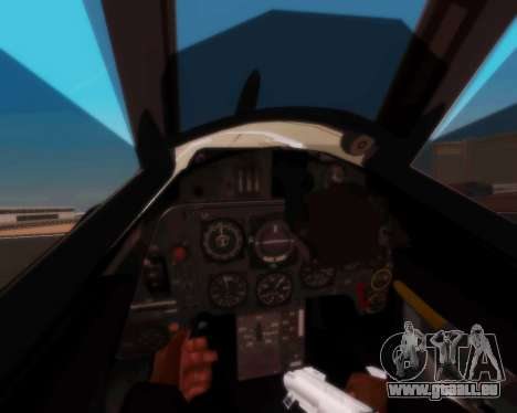 Bf-109 G10 für GTA San Andreas Rückansicht