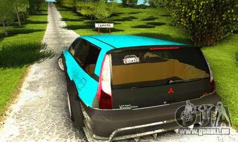 Mitsubishi Evo IX Wagon S-Tuning pour GTA San Andreas vue de côté
