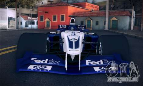 BMW Williams F1 pour GTA San Andreas vue de dessus