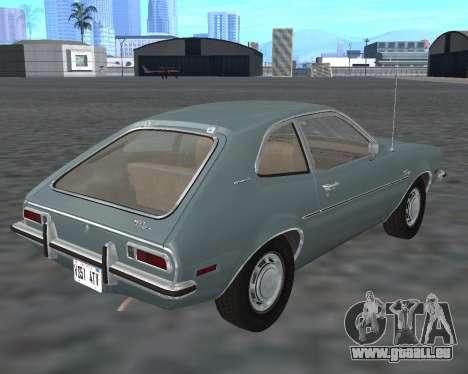 Ford Pinto 1973 für GTA San Andreas Rückansicht