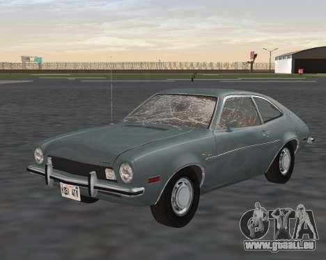 Ford Pinto 1973 für GTA San Andreas Unteransicht