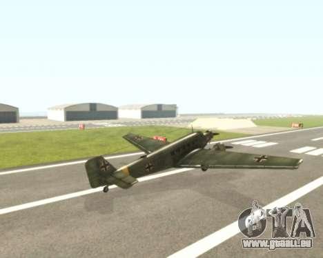 Junkers Ju-52 für GTA San Andreas rechten Ansicht