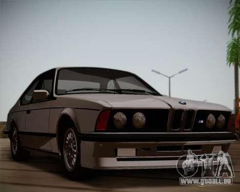 BMW E24 M635 1984 pour GTA San Andreas laissé vue