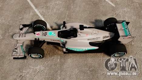 Mercedes AMG F1 W04 v5 für GTA 4 rechte Ansicht