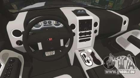 Saleen S331 Supercab 2008 pour GTA 4 est une vue de l'intérieur