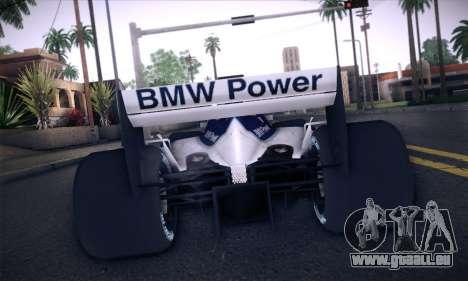 BMW Williams F1 pour GTA San Andreas vue de côté