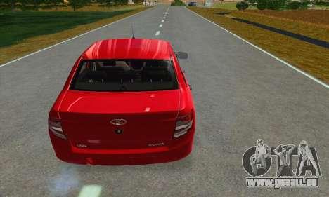 VAZ 2190 Grant Stock pour GTA San Andreas vue arrière