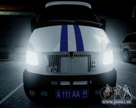 Gazelle 2705 Polizei für GTA 4 rechte Ansicht