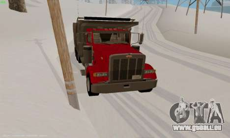Peterbilt 379 Dump Truck pour GTA San Andreas vue arrière
