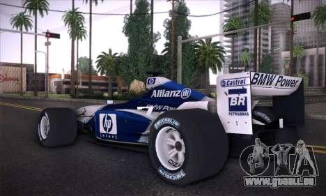 BMW Williams F1 pour GTA San Andreas laissé vue