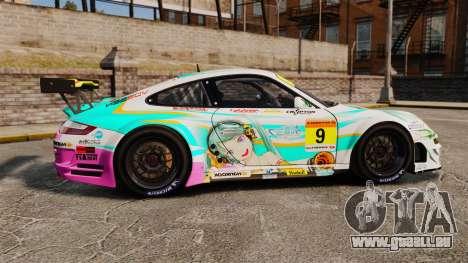 Porsche GT3 RSR 2008 Hatsune Miku für GTA 4 linke Ansicht