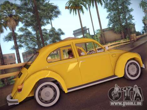 Volkswagen Käfer für GTA San Andreas Rückansicht