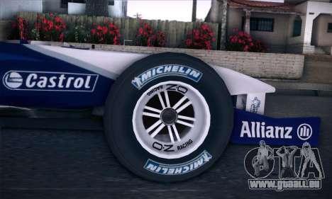BMW Williams F1 pour GTA San Andreas vue de droite