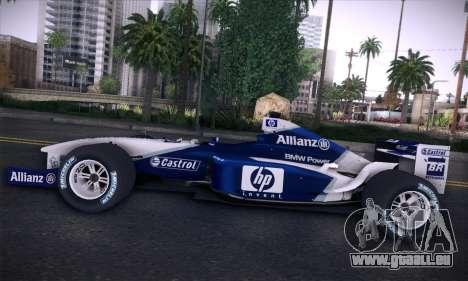 BMW Williams F1 pour GTA San Andreas salon