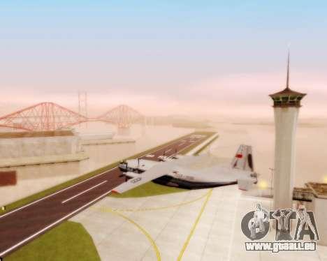 L'Antonov-12 de Aeroflot pour GTA San Andreas vue intérieure