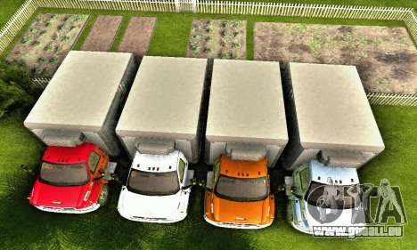 GMC Top Kick C4500 Dryvan House Movers 2008 pour GTA San Andreas salon