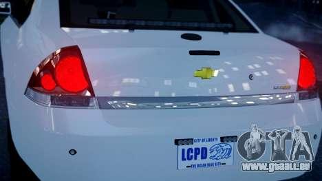 Chevy Impala Unmarked 2010 für GTA 4 hinten links Ansicht