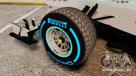 Mercedes AMG F1 W04 v2 für GTA 4 Rückansicht