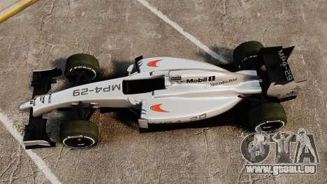 McLaren MP4-29 für GTA 4 rechte Ansicht