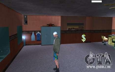 HD peau Bum pour GTA San Andreas cinquième écran