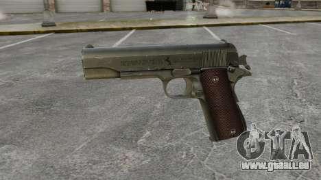 Colt M1911 pistolet v5 pour GTA 4 troisième écran