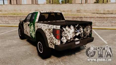 Ford F-150 SVT Raptor 2011 ArmyRat für GTA 4 hinten links Ansicht