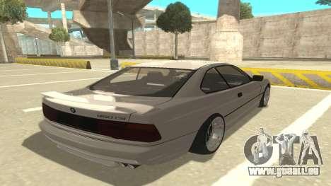 BMW 850CSi 1996 Stock version pour GTA San Andreas vue de droite