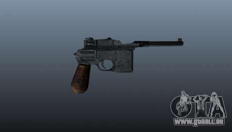 Mauser C96 pistolet Self-loading pour GTA 4 troisième écran