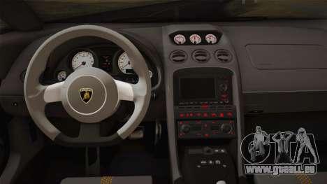 Lamborghini Gallardo Superleggera pour GTA San Andreas salon