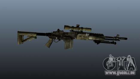 Fusil de sniper M21 Mk14 v7 pour GTA 4 troisième écran